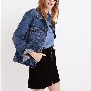 Madewell black denim skirt